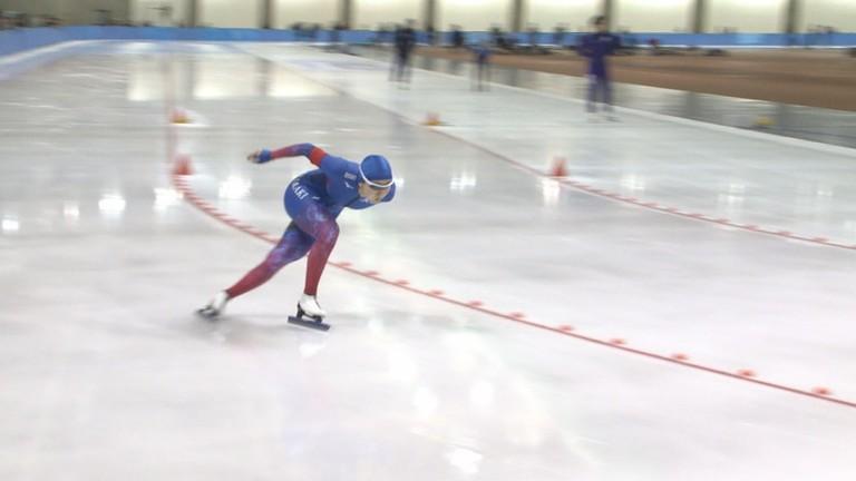 帯広の森スピードスケート競技会