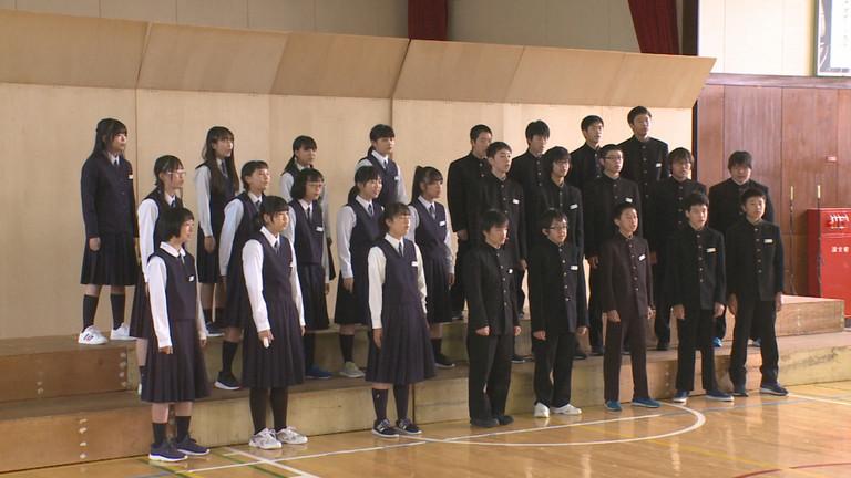 帯広市立帯広第八中学校・合唱コンクール